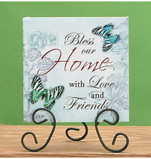 Blue Spring Theme Tabletop Plaque - Home