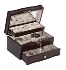 Davina Mahogany Jewelry Box With Lock #286