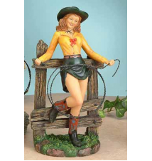 Clementine Leaning On Fence Figurine