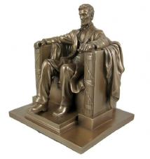 Abraham Lincoln 8* Sitting Bronze Figurine