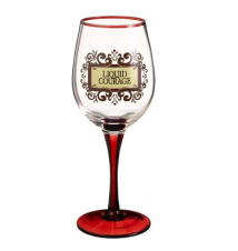 Amscan Liquid Courage Wine Glass
