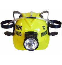 *Beer Sold To Miners* Yellow Drink Hat With Light