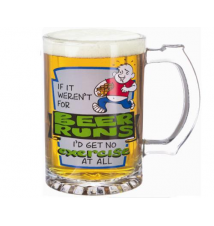 *Beer Runs* Glass Stein