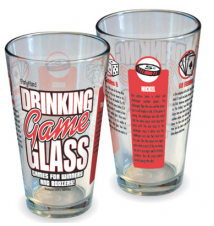 Drinking Game Pint Glass