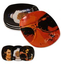 Elvis Presley Artwork Dessert Plates - Set Of 4