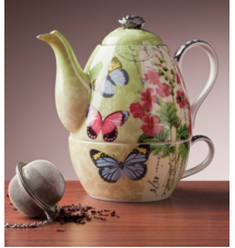 *Butterfly Garden* - Tea For One - Teapot and Cup