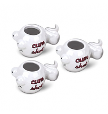 Big Mouth Toys *Cum Shots* Shot Glass- White- Set of 3