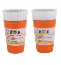 Big Mouth Toys Prescription Pint Glass- Set of 2