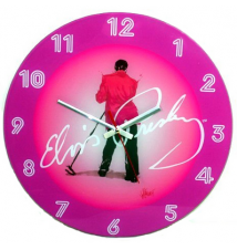 Elvis Presely *Strawberry Shake* Glass Wall Clock