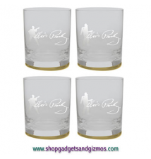 Elvis *Frosted Silhouette*  Double Old Fashion Glasses - Set of 4