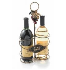 Amscan Fine Wine Metal Two Bottle Decorative Wine Caddy