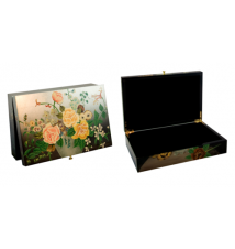 Coromandel Arts Broken Flowers Jewelry Treasure Box #232