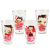 Betty Boop 4pc 16 oz. Glass Set