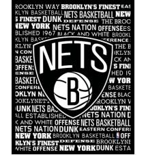 Brooklyn Nets Typography Canvas Wall Art #006