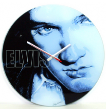 Elvis Presely *Baby Blue* Glass Wall Clock