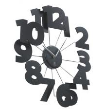 3-D Numbers Metal Wall Clock