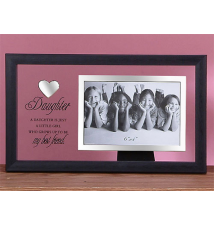 12* Glass With Heart Photo Frame- Daughter