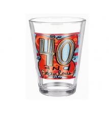 40 and Fabulous Glass Pilsner