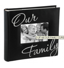 2 Up 4x6 *Our Family* Photo Album
