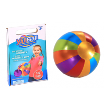 14-Inch Y*all Ball Inflatable Fun Ball Multi-Colored