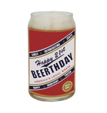 *Happy 21st Beerthday* Beer Can Glass