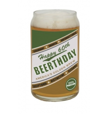 *Happy 60th Beerthday* Beer Can Glass
