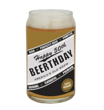 *Happy 50th Beerthday* Beer Can Glass
