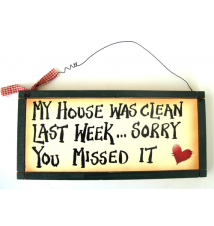 *My House was Clean Last Week- Sorry You Missed It* Wood Sign