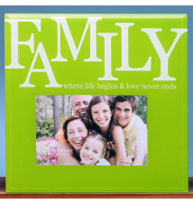 6* x 4* Glass Photo Frame- Family