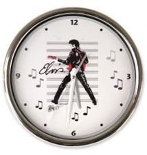 Elvis Petruccio Dancin Leather Chrome Wall Clock