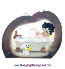 Betty Boop Betty Bubble Bath Clear Resin Figurine