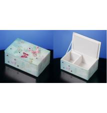 Butterfly Jewels Glass Music Trinket Box #110