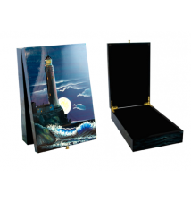 Coromandel Arts Lighthouse Jewelry Treasure Box #209