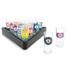 Billiards Shot Glass Set of 16