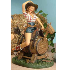 Bell Riding Mechanical Horse Figurine