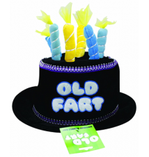 Big Mouth Toys Black Birthday Candle Hat (Old Fart)