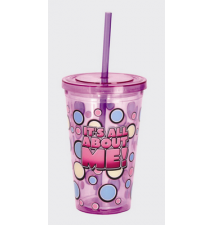 *It*s All About Me!* Acrylic Drinking Cup With Straw