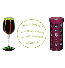 50 and Fabulous Wine Glass by Lolita Love My Wine Stemware Collection
