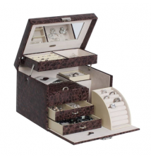 Dahlia Croco Faux Leather Jewelry Box #276