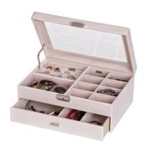 Colette Croco Faux Leather Jewelry Box #275