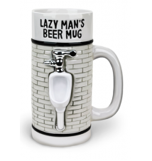 Big Mouth Toy*s Lazy Man*s Beer Mug