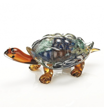 Badash Crystal Art J570 Glass Turtle 12x6x5