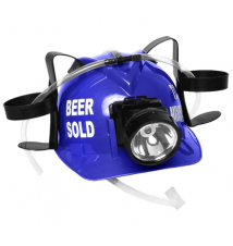 *Beer Sold To Miners*  Blue Drink Hat With Light