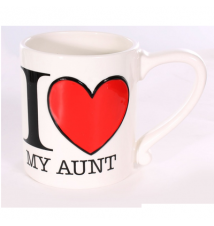 Amscan I Heart My Aunt 16oz Coffee Mug