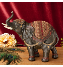 12* Brown Elephant Figruine By Fashion Craft