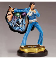 Elvis Presley Tribute Figurine: The King of Rock 'n' Roll Bradford Col