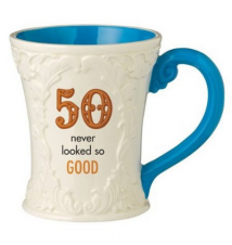 50 Never Looked So Good Ceramic Mug By Grassland Road