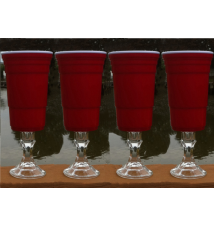 4 Pack Redneck SOLO Wine Cup - Mega 32 Ounce size