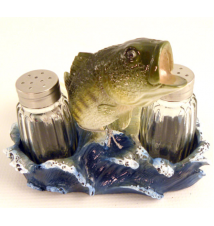 Bass Jumping Fish Salt And Pepper Shaker Set #187