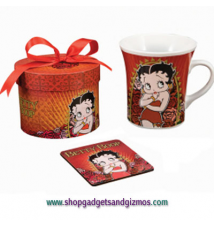 Betty Boop Rose Mug and Coaster Set